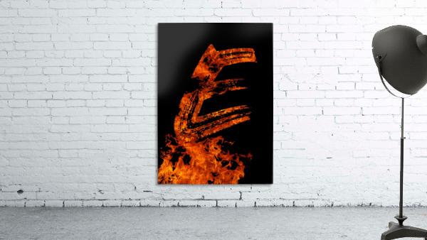 Burning on Fire Letter E