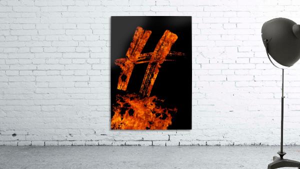 Burning on Fire Letter H
