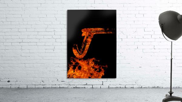 Burning on Fire Letter J