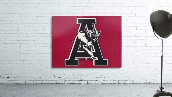 vintage alabama a elephant artwork 1982 college poster