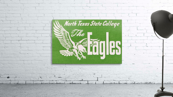 north texas state college unt eagles vintage poster college art collection