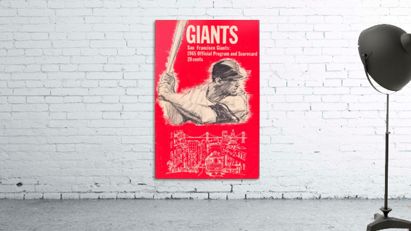 1965 san francisco giants program baseball scorecard poster
