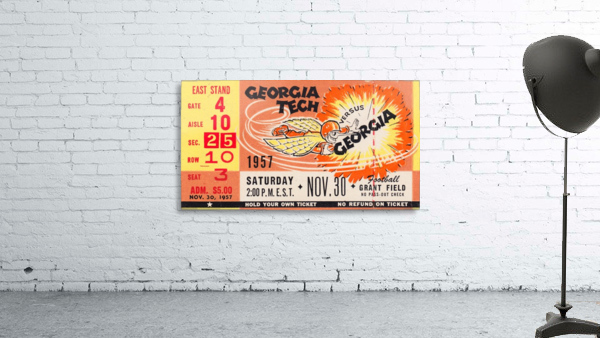 College_FootballArt_GeorgiaTechvs.Georgia_GrantField_TicketStubArt