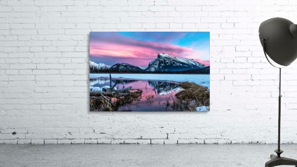 Rundle Mountain Sunset Banff National Park