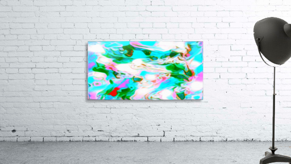Angelic High - white blue red pink multicolor swirl abstract wall art