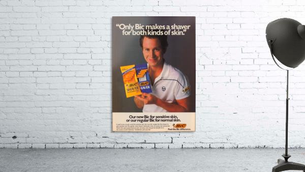 row one vintage sports ads retro bic shaver john mcenroe tennis poster