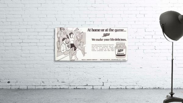 vintage frenchs mustard ad retro food advertisements poster print metal sign wood art