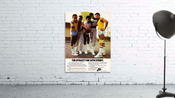 1981 vintage nike shoe ads dynasty on 34th street retro basketball poster
