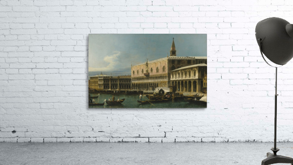 Venice, a view of the Molo, looking West, with the Palazzo Ducale and south side of the Piazzeta