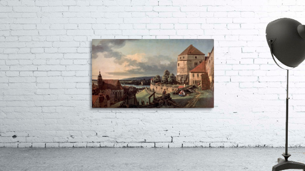 Landscape with castle and river