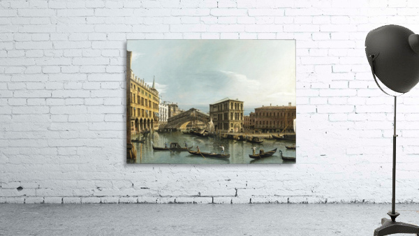 Venice. View of the Grand Canal with the Rialto Bridge, Seen from the North