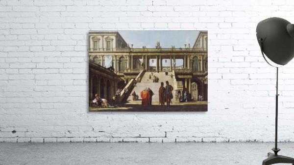 Street scene outside palace