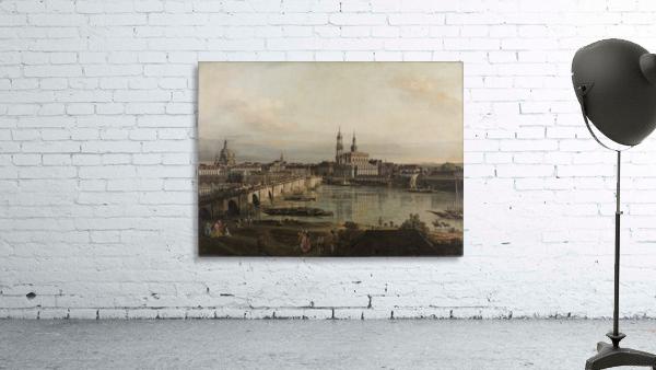 Dresden, die Altstadt Dresdens vom Neustadter Bruckenkopf
