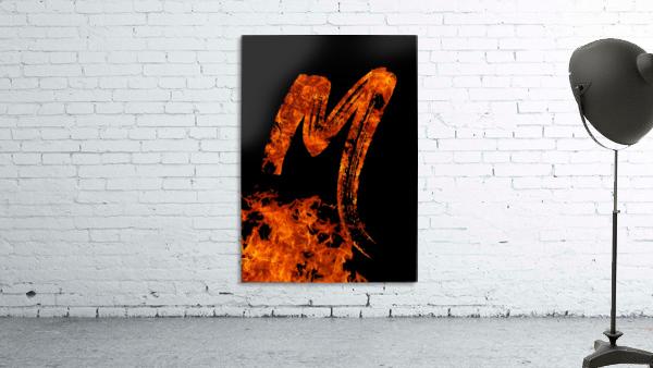 Burning on Fire Letter M
