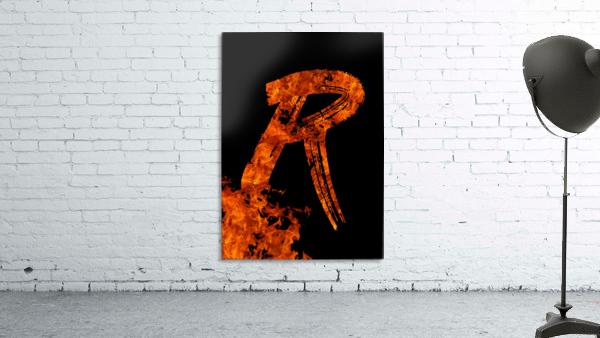 Burning on Fire Letter R