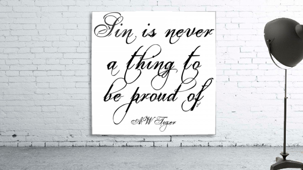 Sin is never a thing to be proud of