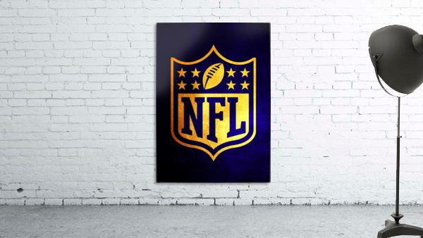 Nfl logo Blue Gold Skyline