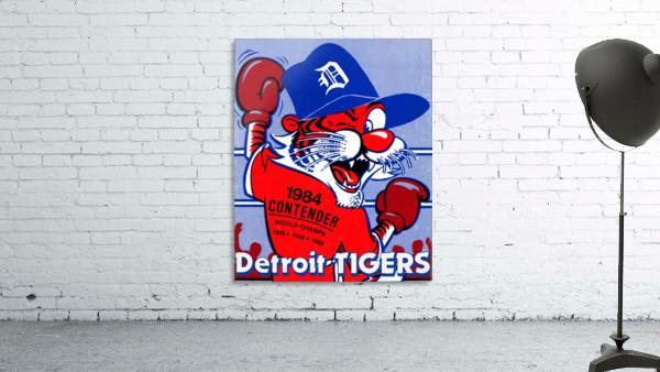 vintage detroit tigers poster retro sports art 1980s posters