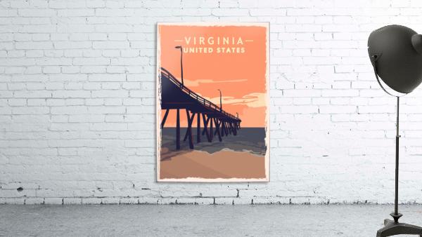 virginia retro poster usa virginia travel illustration united states america