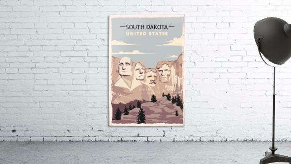 south dakota retro poster usa south dakota travel illustration united states america