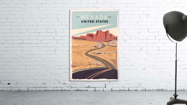 nevada retro poster usa nevada travel illustration united states america