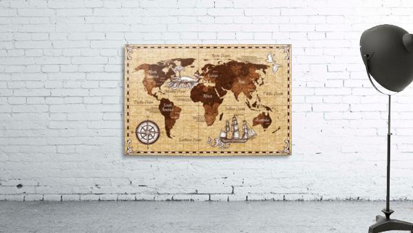 Vintage old classic antique retro map