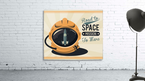 Life space vintage poster with set scenes