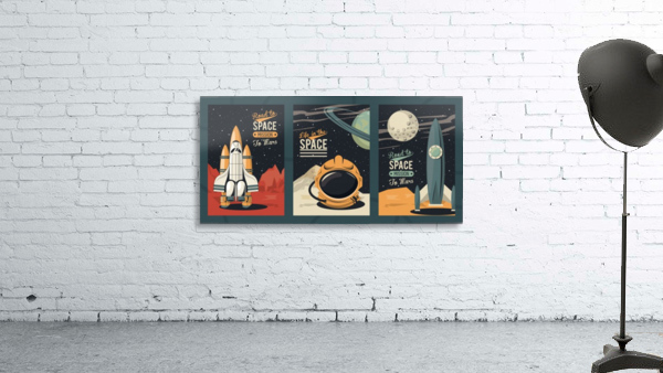 Life space poster with set scenes
