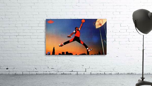 1985 Nike Promo Jordan Rookie Card Wall Art