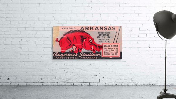 1941 Arkansas Razorbacks Ticket Stub Art
