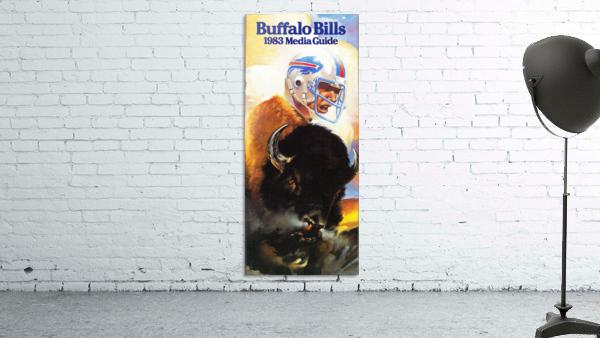 1983 Buffalo Bills Media Guide Artist Bill Ersland