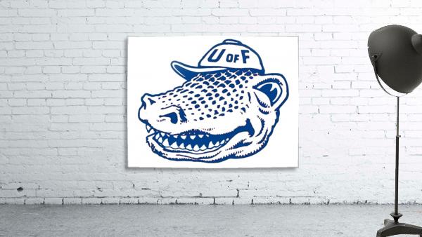 vintage florida gators wall art blue