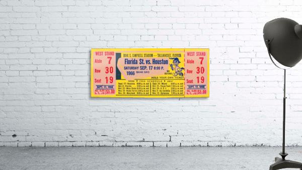 florida state seminoles ticket stub art