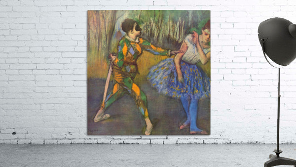 Harlequin and Colombine by Degas