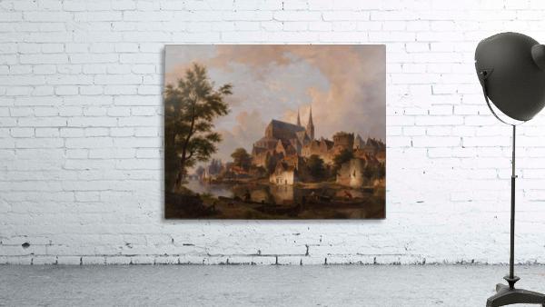 Capriccio stadsgezicht, elementen Deventer
