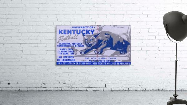 university kentucky wildcats football ticket stub wall art