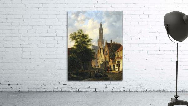 Bakenesserkerk seen from The Valkestraat, Haarlem