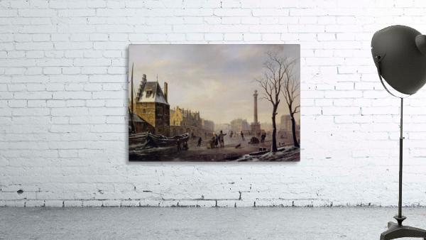 Pompenburg met Hofpoort in de winter