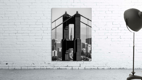 Threading the Needle - Golden Gate Bridge in Black and White