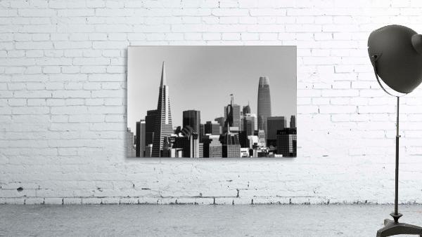 Black and White San Francisco Skyline