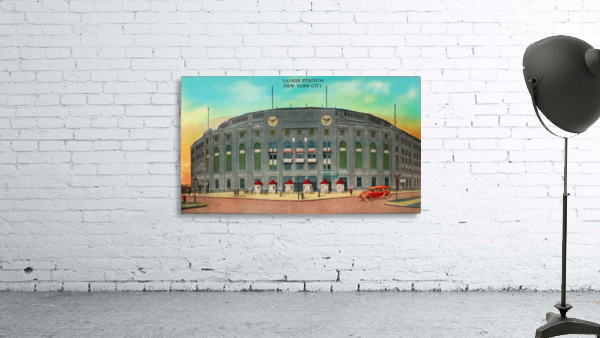 1935 Vintage New York Yankees Stadium Art