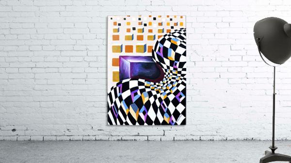 Retro Minimalism Abstract Chess Pattern