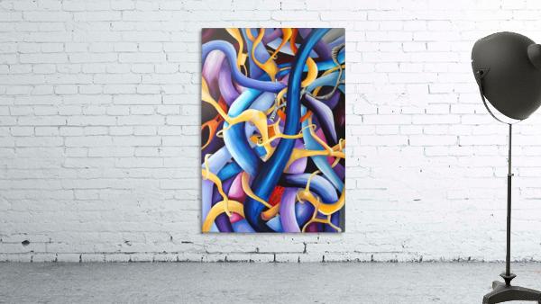 Interlacing Vivid Contemporary Abstract