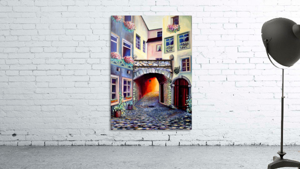 Brussels Cityscape Bohemian Painting