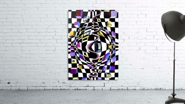 Watercolor Abstract Chess Pattern