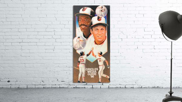 1986 Baltimore Orioles Media Guide Canvas