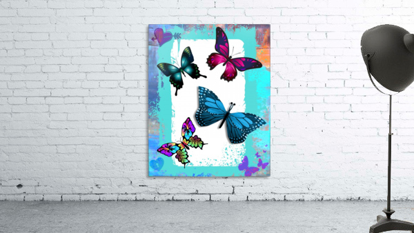 Whimsical Morpho Butterflies in Vivid Colors