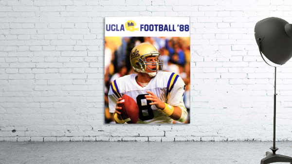 retro college sports posters ucla bruins football