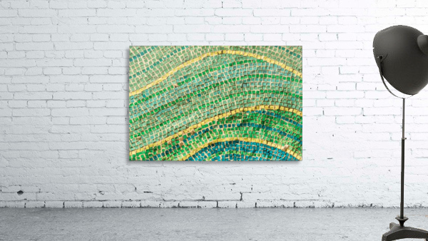 Tessellated Abstracts and Impressions - Free Form Fields and Hills in Chartreuse Mint Green and Citron Yellow