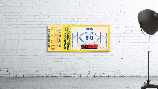 ticket wall art